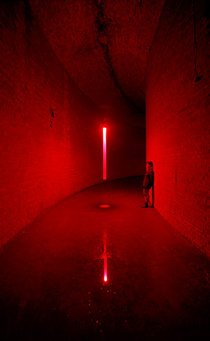 Defragmentation/red - An exploration of time by gal and Yumi Kori  - Old Water reservoir Prenzlauzer Berg, Berlin 2000 -  Photography  by Werner Zellien