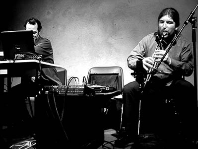 Fagaschinski & Gal at Ausland, Berlin - February 14th, 2004, photo by Marcus Liebig