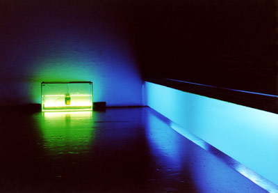 RGB - Blue + Aquarium, , Vienna, 2001 - photo: Bernhard Gal